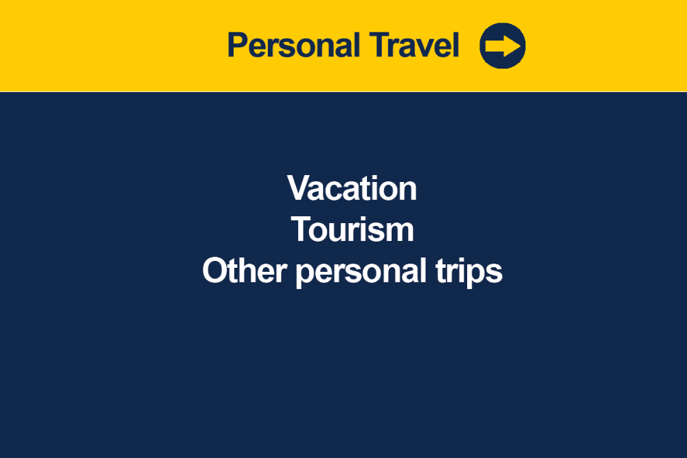 Register vacation/holiday travel not related to U-M