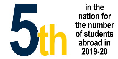 1st in the Big Ten for the number of students abroad last year